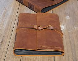 Leather Wedding Guest Book Leather Guest Book Etsy