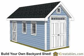 How To Build A Shed Design by 8x16 Storage Shed Plans Easy To Build Designs How To Build A Shed