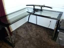 Glass Desk Office Depot Officemax Glass Desk Corner Office Max Onsingularity