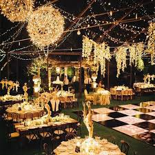 How To Decorate A Backyard Wedding 40 Romantic And Whimsical Wedding Lighting Ideas Rustic Backyard