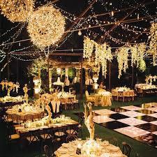 40 romantic and whimsical wedding lighting ideas rustic backyard