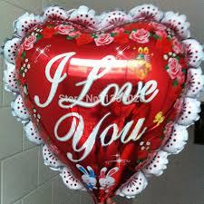 valentines day balloons wholesale wholesale 50pcs lot 23 big heart shape i you foil