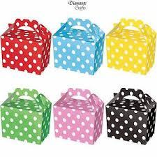 polka dot boxes party boxes polka dot food loot spot treat box 6 colours