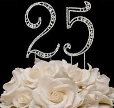 25 cake topper 25th wedding anniversary 25th wedding anniversary accessories