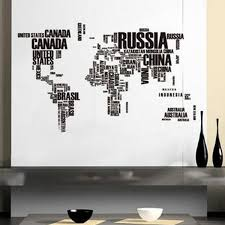 online get cheap large letters wall aliexpress com alibaba group wall stickers large world map removable vinyl decal art mural home decor wall sticky practical black letters home decor