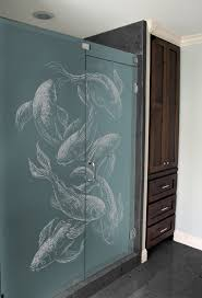 etched glass shower door designs frosted glass shower screens clearlight designs