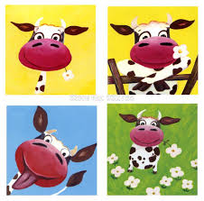 aliexpress com buy free shipping cute cartoon happy cow oil
