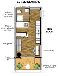 50 sq ft the two story design has 350 square feet of interior space 200 on