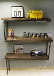 Industrial Pipe Bookcase Industrial Shelving With Pipe Fittings