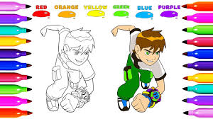 draw coloring ben 10 omniverse learn colored for kids learning