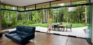 Outdoor Glass Room - opening glass walls