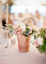 Gold Vases For Weddings How To Use Rose Gold In Your Wedding Gold Vases Wedding And