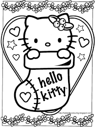 kitty christmas coloring pages coloringsuite