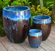 glazed ceramic pots garden pottery home outdoor decoration