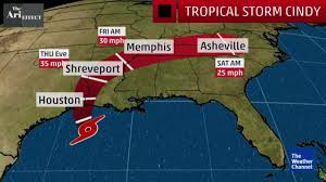 Houston Weather Map Tropical Storm Cindy Cone Analysis The Weather Channel