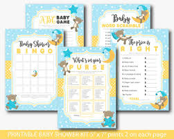 teddy bear baby shower games set yellow bear baby shower games