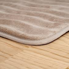 Taupe Bathroom Rugs Lavish Home Memory Foam Bath Rug Mat
