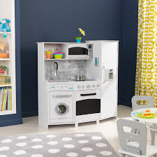 amazon com kidkraft kids kitchens playset white black toys u0026 games