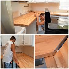 how to install butcher block countertops installing butcher block joining corners renovate pinterest