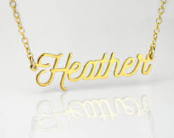 Personalized Name Plate Necklaces Name Plate Necklace Etsy