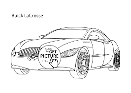 super car buick lacrosse coloring page cool car printable free