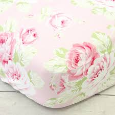 crib sheets shabby chic roses ruffle crib mattress toddler