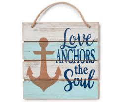 Love Anchors The Soul Wall - living colors love anchors the soul anchor wooden wall plaque