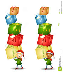 elf carrying christmas gifts royalty free stock images image