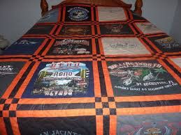 Quilted Rugs Harley Davidson T Shirt Queen Quilt Blanket Ebay Becky