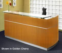 Reception Desk With Transaction Counter Reception Desk With Floating Glass Transaction Counter