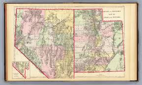 Map Of Counties In Utah by Utah Nevada David Rumsey Historical Map Collection
