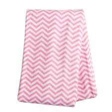 breathable cotton blanket sears com trend lab swaddle pink chevron