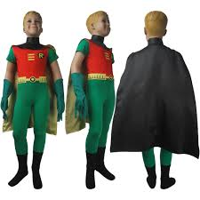 halloween costume with cape dc comics teen titans go superhero robin suit cosplay