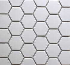 simple white hexagonal tiles are a design classic and can be used
