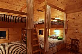 Queen Bunk Bed Bedroom Traditional With Bunk Room Bunks Timber - Timber bunk bed
