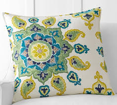 embroidered pillow cover pottery barn