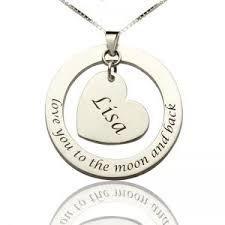 Jewelry With Names Custom Promise Necklace With Name U0026 Phrase Sterling Silver