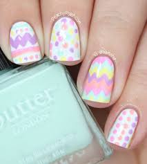 easter egg nail art peachy polish