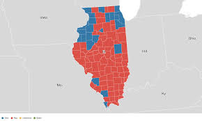 2016 Senate Election Map by Illinois Election Results 2016 Live Maps Polling Analysis