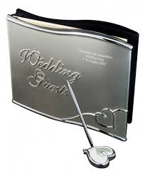 engraved wedding guest book engraved wedding guest book with pen
