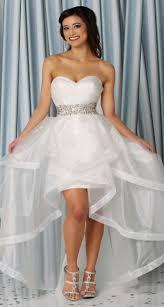 simple women sweetheart neck wedding dress short front long