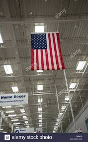 American Flag Home Decor American Flag Hangs From The Ceiling Of A Lowe U0027s Home Improvement