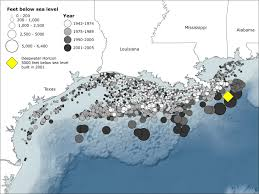 Us And Mexico Map Location Of Oil Rigs In The Gulf Of Mexico