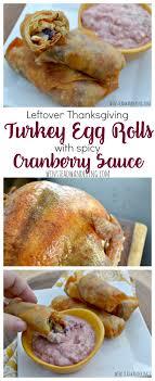 leftover thanksgiving turkey egg rolls