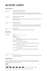 Research Assistant Resume Sample by Undergraduate Researcher Resume Samples Visualcv Resume Samples