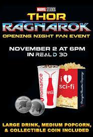 thor ragnarok opening night fan event film info