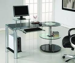 Chrome Office Desk Black Glass Chrome Modern Executive Desk Officedesk