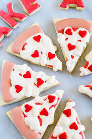 valentines day cookies take a pizza my heart cookies bake at 350