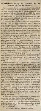 thanksgiving proclamation 1863 gilder lehrman institute of
