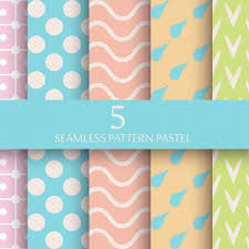 pattern wallpaper set of pastel seamless pattern wallpaper vector free download